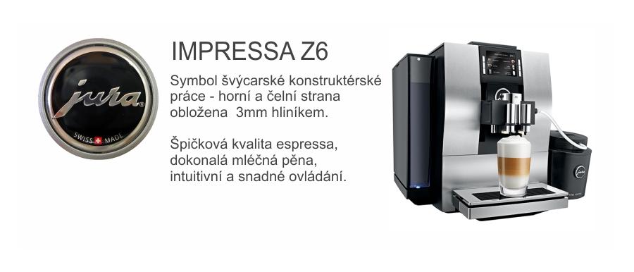 Švýcarská špička v kávovarech Impressa Z6