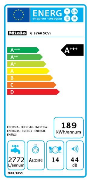 MIELE G 6760 SCVi EcoFlex