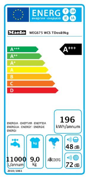 MIELE WEG 675 WCS TDos&9kg + TEF 655 WP EcoSpeed&8kg