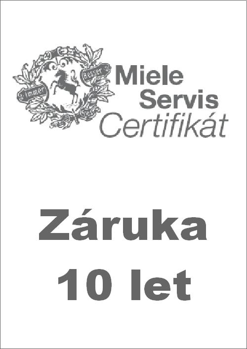 MIELE Servis Certifikát na 10 let